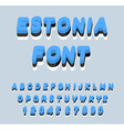 Estonia font Estonian flag on letters National vector image