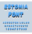 Estonia font Estonian flag on letters National vector image
