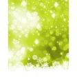 Green abstract christmas with snowflake EPS 8 vector image