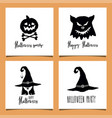 halloween greeting cards vector image