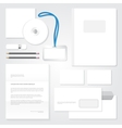 identity template Stationary blank design vector image