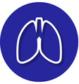 lungs within a circle line icon vector image