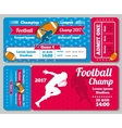 Rugby football sports ticket card retro vector image