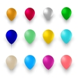 Set of Colorful Air Balloons Isolated on White vector image