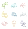 Set of spa and recreation icons in linear style vector image