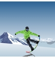 snowboarding theme Snowboarder vector image