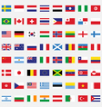 Set of rectangle flags flat design vector image