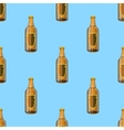 Brown Glass Beer Bottles Seamless Pattern vector image