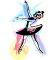 Drawing of Abstract ballerina dancing vector image vector image