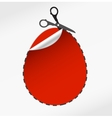 scissors cut egg vector image vector image