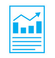 Financial report or income statement icon on vector image