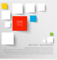abstract rectangles background infographic vector image