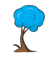 Abstract Blue Tree vector image vector image