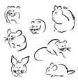 Set of rodents vector image vector image