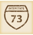 Grungy Interstate 73 icon vector image