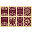 Set of invitations cards with ethnic henna vector image