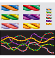 varicolored ropes vector image vector image