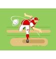 Baseball player cartoon character vector image
