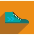 Flat icon with long shadow casual gumshoes vector image