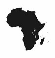 africa map monochrome africa continent icon vector image