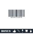 Bar code icon flat vector image