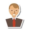 businessman avatar elegant islated icon vector image