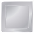 empty silver square frame template for banners or vector image