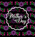 mothers day label decoration on floral bright vector image