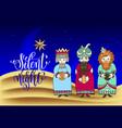 three kings for christian christmas holiday design vector image