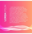 Pink color background Transparent wavy element vector image vector image