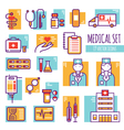 Medical Decorative Line Icons Set vector image