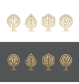 Abstract tree logos vector image vector image