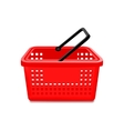 Red Supermarket Basket Isolated vector image