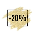 20 percent off discount promotion tag vector image