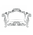 Baroque Imperial luxury style furniture vector image
