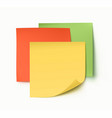 post it notes vector image vector image