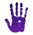 Old man right hand print vector image