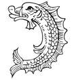 heraldic dolphin No1 vector image