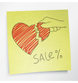 valentines holidays sale concept vector image