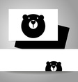 bear animal template vector image