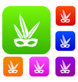 carnival mask set color collection vector image
