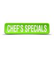chefs specials vector image