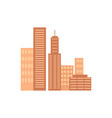 icons of several skyscrapers vector image