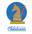 Solutions design vector image