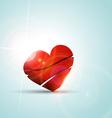 valentine day heart background vector image