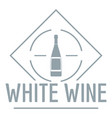wine logo simple gray style vector image