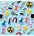 Set of Science colorful pattern icons vector image