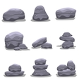 Rock set collection stock art vector image
