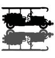 Vintage black firetruck vector image