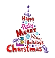 Christmas inscriptions vector image vector image